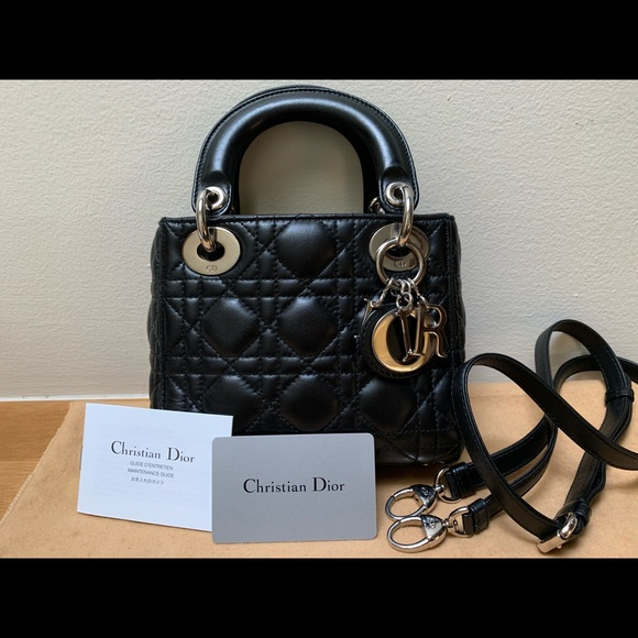 Dior Handbags - Christian Dior Mini Lady Dior Lambskin handbag d21a5373213d6